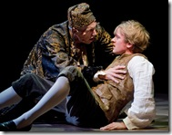 Larry Yand and Geoff Packard in Candide at Goodman Theatre - photo by Liz Lauren
