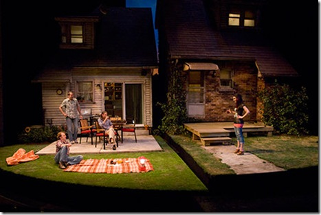 A scene from Steppenwolf Theatre Company's production of Detroit by Lisa D'Amour, directed by ensemble member Austin Pendleton. Photo by Michael Brosilow.
