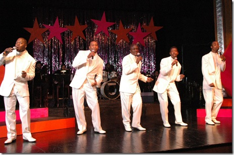 (from left): David Simmons, Byron Willis, Kenny Davis, Theo Huff, RaShawn Thompson - photo by Ken Simmons