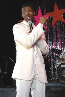 "Theo Huff sings in BET's ""Those Sensational Soulful '60s"" - Photo by Ken Simmons"