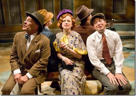 Kevin Gudahl, Heidi Kettenring and Bernard Balbot in SHE LOVES ME - now playing at Writers' Theatre in Glencoe.