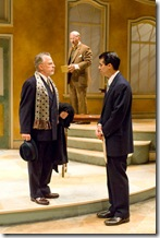 Ross Lehman, Kevin Gudahl and Rod Thomas in SHE LOVES ME - now playing at Writers' Theatre in Glencoe.