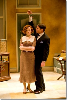 Heidi Kettenring and James Rank in SHE LOVES ME - now playing at Writers' Theatre in Glencoe.