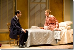 Rod Thomas and Jessie Mueller in SHE LOVES ME - now playing at Writers' Theatre in Glencoe.