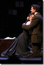 "Megan McGinnis and Robert Adelman Hancock in Northlight Theatre's ""Daddy Long Legs"". Photo by Jeanne Tanner."