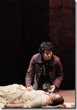 Katharine Goeldner and Yonghoon Lee, final scene of Bizet Carmen, Lyric Opera - photo by Dan Rest