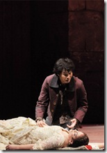 Katharine Goeldner and Yonghoon Lee, final scene of Bizet Carmen, Lyric Opera - photo by Dan Rest