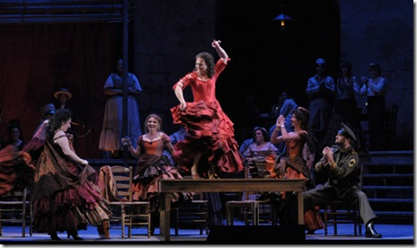 Katharine Goeldner as Carmen - Lyric Opera - Photo by Dan Rest