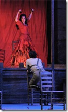 Katharine Goeldner, Yonghoon Lee - Lyric Opera Carmen - photo by Dan Rest