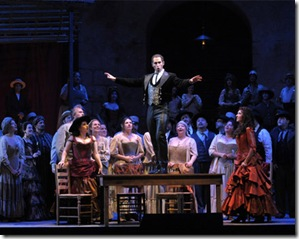 Kyle Ketelsen as Escamilo, Lyric Opera Carmen - photo Dan Rest