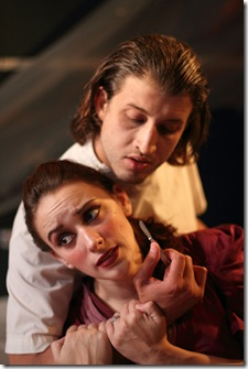 Mina and Renf in Redtwist Theatre Dracula
