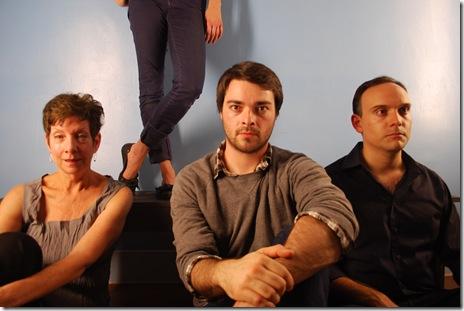 (Left to right) Lona Livingston, Meghan Reardon (legs), Nicholas Combs, Robert Oakes.  Photo by James Palmer