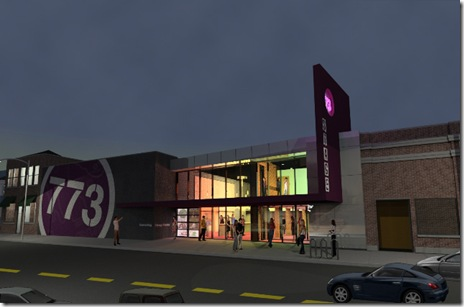 Exterior rendering of Stage773 Renovations - John Morris Architects 2