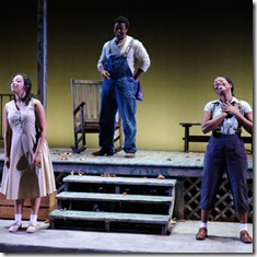 Ashley Honore, Kamal Angelo Bolden, and Tracey N. Bonner at Court Theatre - Home