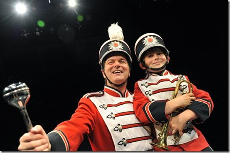 Bernie Yvon and Danny Coonley in The Music Man - Marriott Theatre