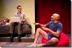 Collin Geraghty and Usman Ally in Theater Wit's The Four of Us