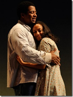 Final scene from HOME - Court Theatre - Kamal Angelo Bolden and Ashley Honore