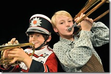 Johnny Rabe and Danny Coonley in The Music Man - Marriott Theatre