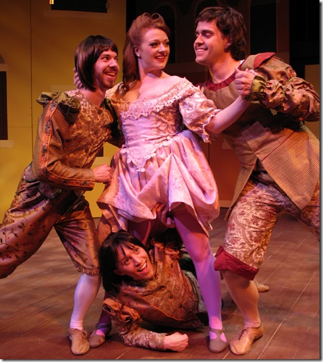 Jonathan Altman, Jake Autizen, Rachel Quinn, Wes Drummond - Kiss Me Kate - Circle Theatre