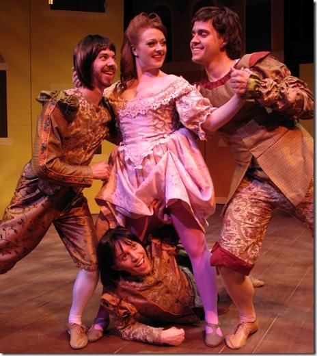 Jonathan Altman, Jake Autizen, Rachel Quinn, Wes Drummond - Kiss Me Kate - Circle Theatre