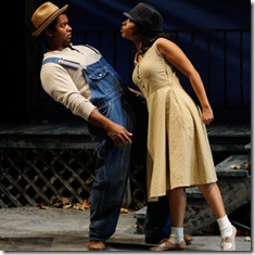 Kamal Angelo Bolden and Ashley Honore in Court Theatre - Home