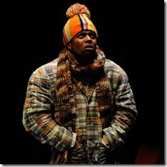 Kamal Angelo Bolden in winter scene in Samm-Art Williams Home - Court Theatre