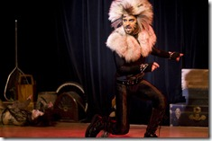 Tommy Rivera-Vega as Rum Tum Tugger in The Rum Tum Tugger. Photo by Gary Ward of G. Thomas Ward Photography