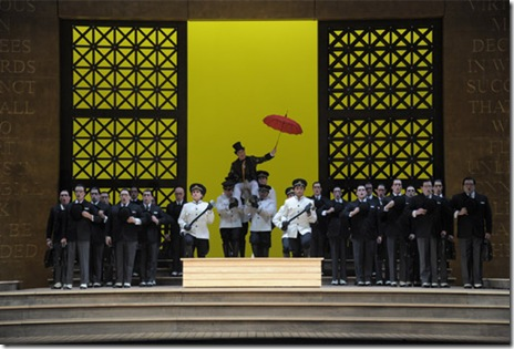 01 Neal Davies as Ko-Ko center with Lyric Opera Chorus THE MIKADO DAN_4344 c Dan Rest