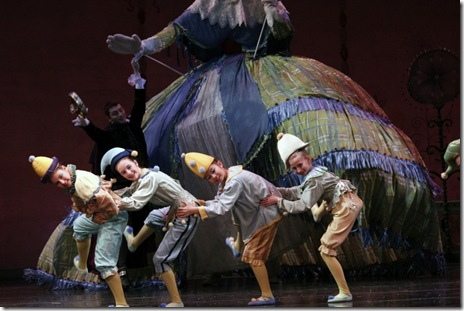 Children cast in The Nutracker - Joffrey Ballet Chicago - photo by Herbert Migdoll