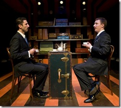 Sean Fortunato and John Hoogenakke in TRAVELS WITH MY AUNT, now playing at Writers' Theatre in Glencoe.