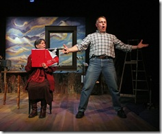 LW Anne and Paul Standing (L-R):  Anne Hills and Paul Amandes star in Full Sky Productions' Chicago premiere of LOCAL WONDERS, a play with songs, at Chicago Dramatists, 1105 W. Chicago Avenue.  The production previews November 27, opens December 2, and runs through January 9, 2011.