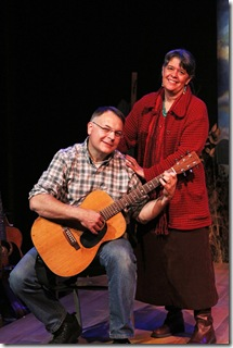 LW Guitar 2 (L-R): Paul Amandes and Anne Hills star in Full Sky Productions' Chicago premiere of LOCAL WONDERS, a play with songs, at Chicago Dramatists, 1105 W. Chicago Avenue.  The production previews November 27, opens December 2, and runs through January 9, 2011.