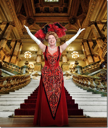 Mary Robin Roth (Dolly Gallagher Levi) in Hello Dolly – Light Opera Works. Photo Credit: Rich Foreman
