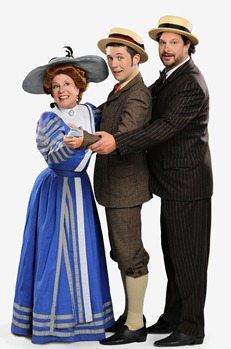Mary Robin Roth (Dolly Gallagher Levi), Robert Brady (Cornelius Hackl), Patrick Tierney (Barnaby Tucker), star in Light Opera Works' HELLO, DOLLY!, December 26, 2010- January 2, 2011 at the Cahn Auditorium in Evanston, IL. Photo Credit: Rich Foreman