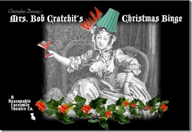 xmas postcard for Mrs. Bob Cratchits Christmas Binge