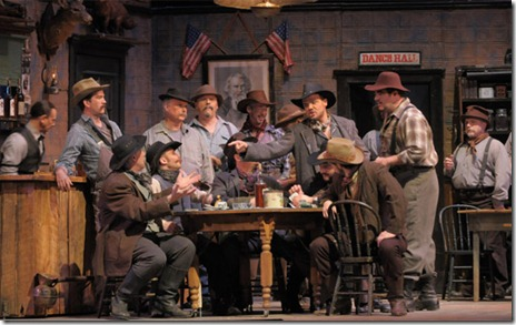 "Act 1 of ""Girl of the Golden West"" at Lyric Opera. Photo by Dan Rest"