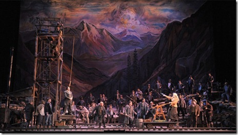 "Act 3 of ""Girl of the Golden West,"" playing at the Lyric Opera of Chicago. Photo by Dan Rest"
