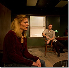 Cheryl Lynn Golemo and John Arthur Lewis in Redtwist Theatre's 'Shining City'. Photo by Andrew Jessop