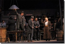 Act 1 of Girl of the Golden West playing at the Lyric Opera of Chicago. Photo by Dan Rest