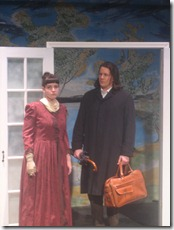 A scene from New Rock Theate's production of 'Ghosts' by Henrik Ibsen