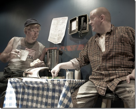 Jim Poole and Eric Roach in scene from 'Lakeboat' at Steep Theatre in Chicago