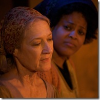 Julie Mitre and Delicia Dunham in Trickster--Photo byTom McGrath