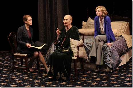 Edward Albee's Three Tall Women features Maura Kidwell (Woman C), Mary Beth Fisher (Woman B), and Lois Markle. Michael Brosilow.