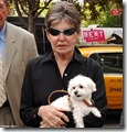 Leona Helmsley and dog