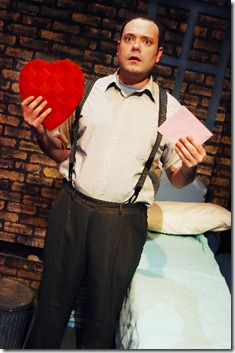 Michael T. Downey as Mr. Hatch - Lifeline Theatre - Photo by Suzanne Plunkett