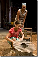 Paige Collins (The Girl) and Alana Arenas (Helena) in Northlight Eclipsed 2