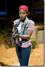 Paige Collins (The Girl) in Eclipsed at Northlight Theatre