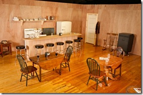 Set designed by Caleb McAndrew for Bus Stop by William Inge - The Den Theatre Chicago