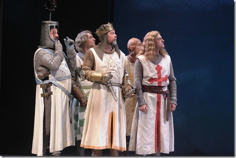 SPAMALOT--Bradley Mott, Adam Pelty, David Kortemeier, Matthew Crowle and Sean Allan Krill