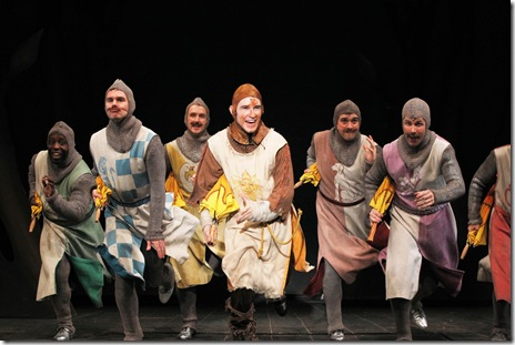 SPAMALOT--James Earl Jones II, Grant Thomas, Gary Carlson, Matthew Crowle, Brandon Springman and Richard Strimer